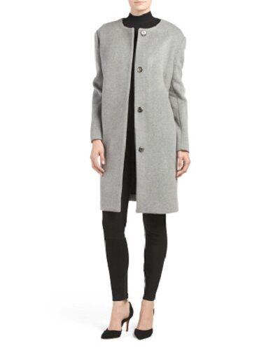 Pink M Blend Wool l Nwt 690 Coat Cocoon Tartan Grey dafa0q