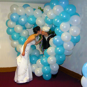 Large heart balloon frame wedding anniversary valentines for Balloon arch frame kit party balloons decoration