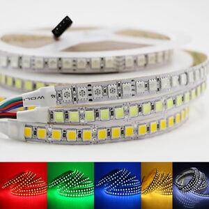 16-4ft-300-LED-Flexible-Strip-light-5050-5630-5054-RGB-SMD-tape-Lamp-12V-white