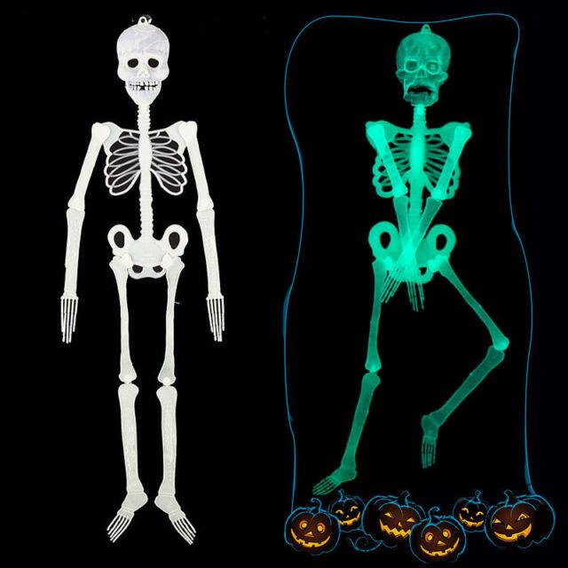 Human Skeleton Halloween Luminous Hanging Decoration Party Scary Skull Decor