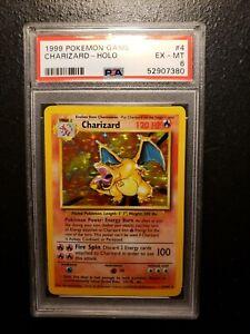 1999 Pokemon Base Set #4 Charizard Holo PSA 6 EX-MT 4/102 - PRISTINE! MUST READ!
