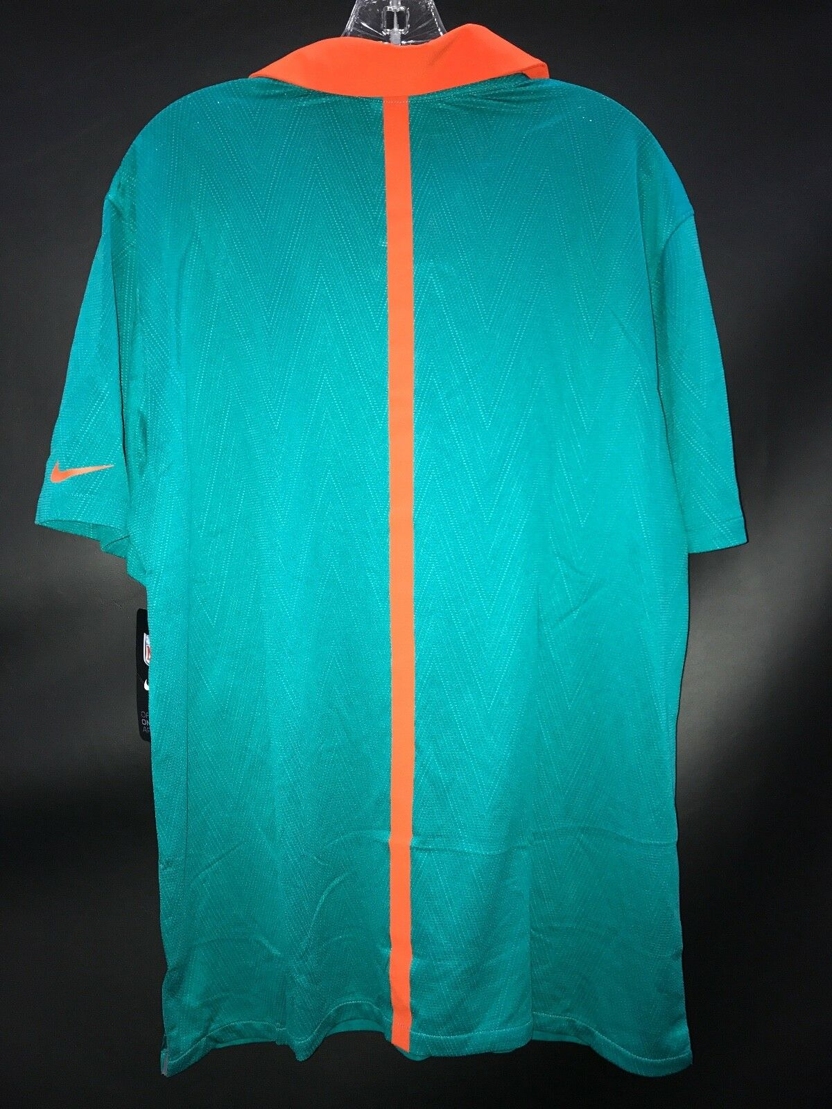 7d699119e26 MIAMI DOLPHINS TEAM ISSUED COACHES THROWBACK POLO SHIRT BRAND NEW OLD LOGO  RARE