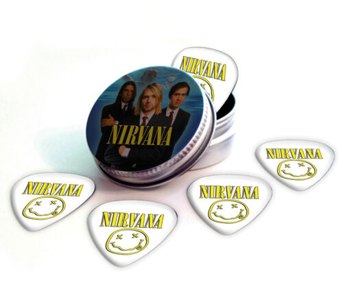 Nirvana 5 X Logo Guitar Picks in Tin Plectrums