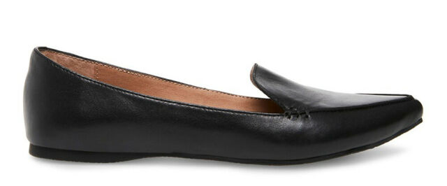 02c325e8f Steve Madden Women's Feather Black Leather Loafer Flat US 9 for sale ...