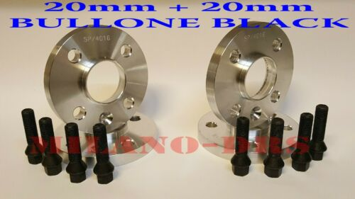 4 DISTANZIALI 20+20mm MINI JOHN WORKS R55-R56-R57-R58-R59 BULLONI BLACK