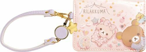 Rilakkuma /& Korilakkuma Pass Case Reel Pajama Party San-X PB58801 F//S w//Track#