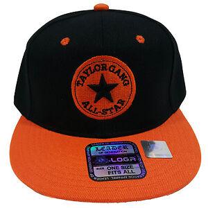 d28160fcd Details about Taylor Gang All Star Embroidered Black/Orange Snapback Hat Cap