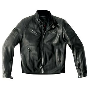 Spidi-Ace-Leather-Jacket-Size-56-Euro-Black-SUPER-SALE