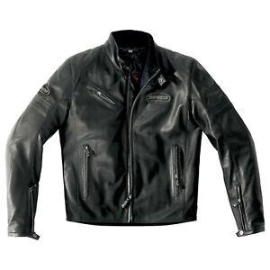 Spidi-Ace-Leather-Jacket-Size-56-Euro-Black-STORE-CLOSED
