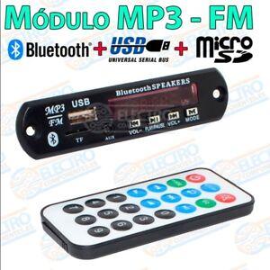 100% De Qualité Modulo Reproductor Mp3 Bluetooth Radio Fm Usb + Tarjeta Micro Sd Mando Distancia Marchandises De Haute Qualité