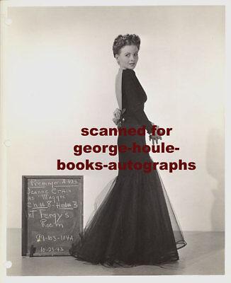 JEANNE CRAIN~VTG~WARDROBE TEST PHOTOGRAPH ~DARLING~1944 - 8 x 10