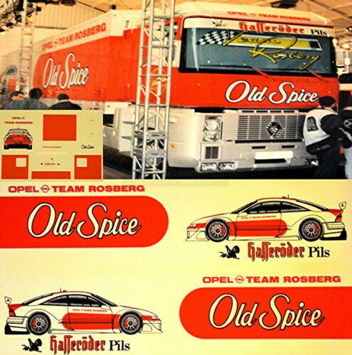 RENAULT RACE CAR TRANSPORTER OPEL Old Spice DTM 187 Truck Decal Sticker