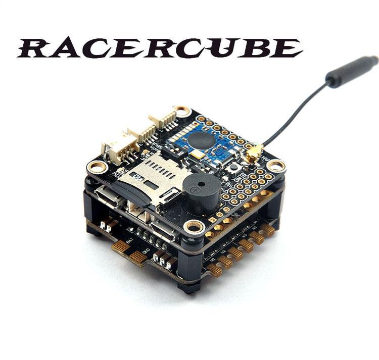 RacerCube F3 EVO Controllore di Volo integrato scheda PCB mwosd 4in1 ESC Frsky 8CH