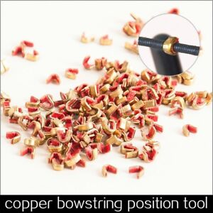 Archery-Bow-String-Nock-Points-Brass-Nocking-Buckle-Clips-Protector-Bow-Hunting
