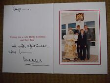 CHARLES PRINCE OF WALES signed Christmas card GENUINE and RARE