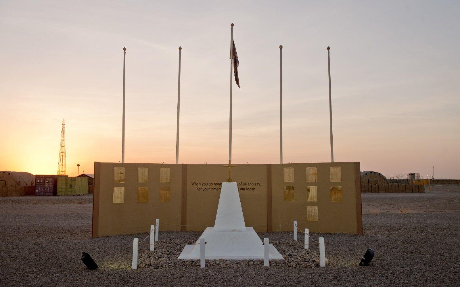 BRITISH ARMY CAMP BASTION MEMORIAL    Photo Print