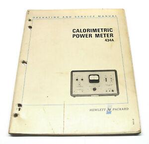 AgréAble Operating & Service Manual Hewlett Packard Hp 434 A Calorimetric Power Mètres-afficher Le Titre D'origine Des Biens De Chaque Description Sont Disponibles