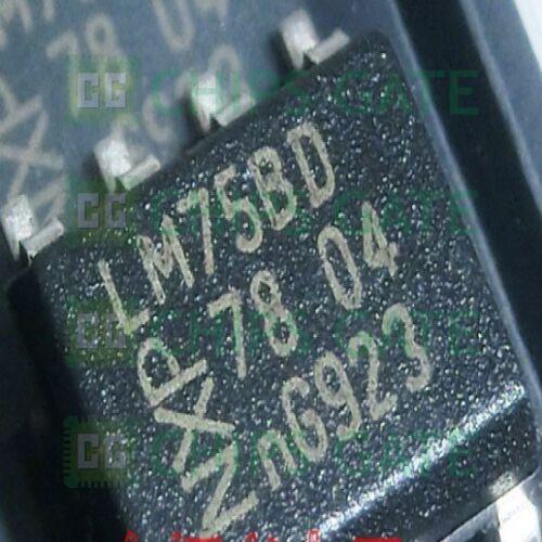 20PCS NEW LM75BD NXP 0842 SO-8