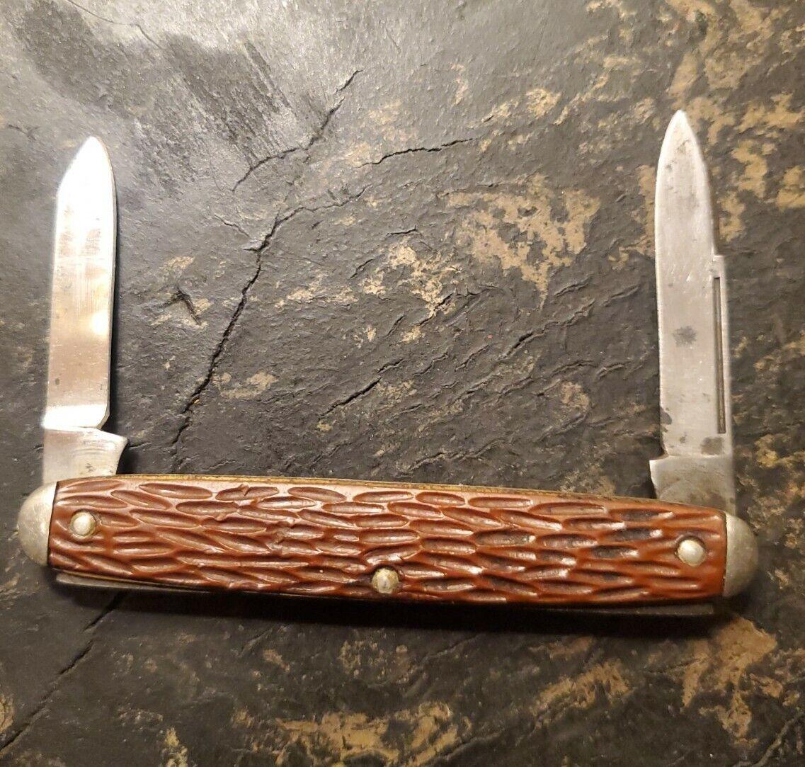 Vintage Hibbard Spencer Bartlett 2 Blade Pocket Knife