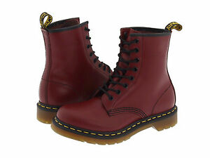 27dc11feb5c9c Women s Shoes Dr. Martens 1460 8 Eye Boots 11821600 CHERRY RED ...