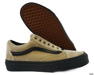 809dee0e188 VN0A38G1NQA Vans Old Skool Velvet (Tan   Black) Men Sneaker Size 7 ...