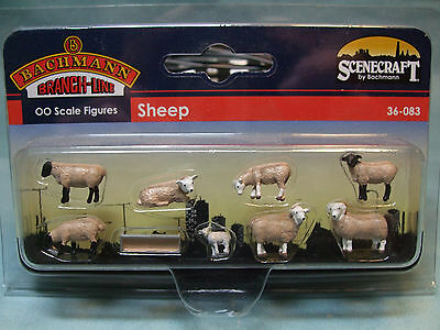 36-083 Bachmann Scenecraft OO Scale Sheep