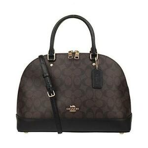 0ac57c1f3a29b ... promo code coach f27584 signature sierra satchel dome bag leather  handbag 07617 e44bf