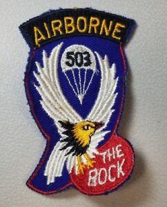 Details about RARE VINTAGE WW2 503RD REGIMENT AIRBORNE PATCH THE ROCK 50A  BAG 2