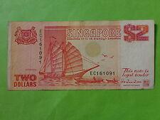 Singapore $2 Ship, EC 161091