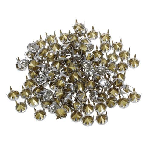 100x 7mm Metall Strass Nieten Silver Ziernieten Rundnieten Strassnieten V9O1