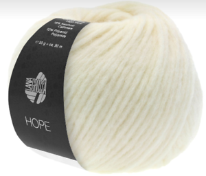 17,90 €//100g Hope 50g lana Grossa color 3 rohweiß