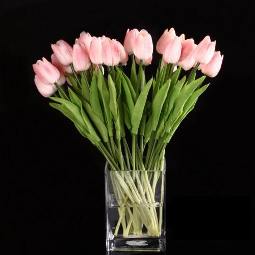 Rosa GY 10 Stueck Tulpe Blumen Latex fuer Hochzeit Blumenstrauss Dekor