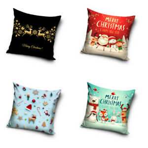 Weihnachtskissenbezug Xmas Pillowcase Pillow Cover Christmas 40 X 40 Cm Ebay