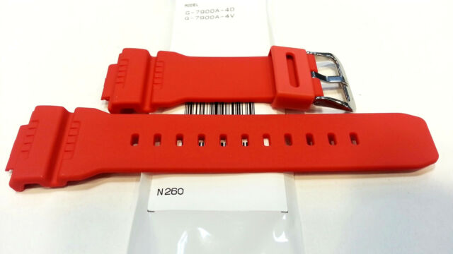 92920153d Genuine Casio Replacement Band G SHOCK G7900A-4 G7900 RED G7900 SERIES