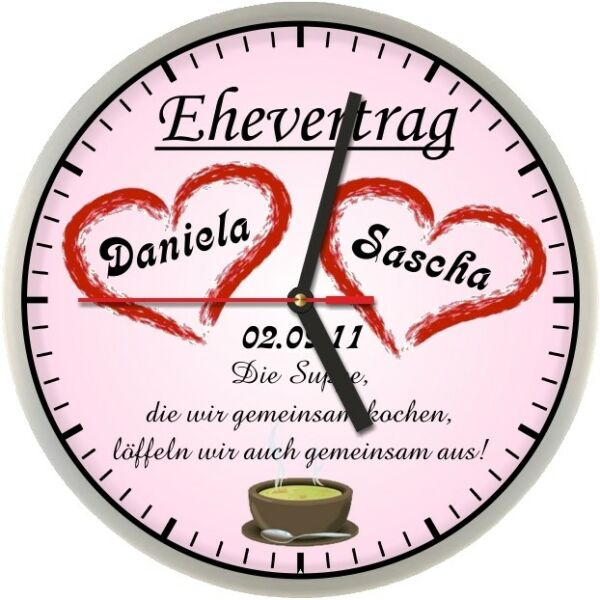 #301 Wanduhr -> Ehevertrag