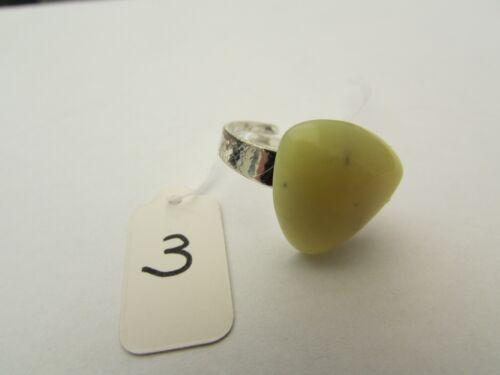 18mm X 18mm. Un Anillo Ajustable Jade Limón triangular 14 Adj .