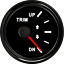 52mm-Black-Trim-Gauge-Meter-UP-DN-In-Outboard-Engine-For-Boat-Marine-0-190-ohms thumbnail 1