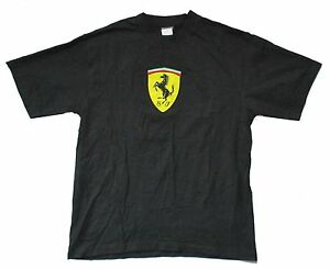 Ferrari-SF-Classic-Shield-Logo-Black-Adult-T-shirt-Brand-New-Official-Merch-F1