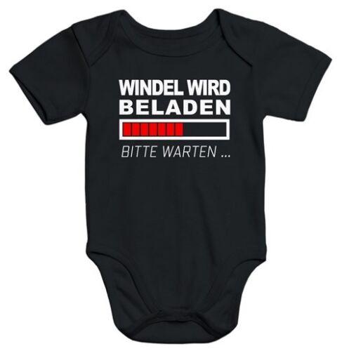 lustiger Baby-Body Windel wird beladen Bio-Baumwolle kurzarm Aufdruck Moonworks®