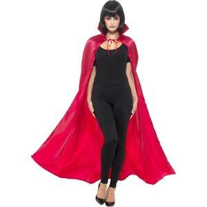 Adult-Red-Satin-Devil-Cape-with-Collar-Vampiress-Halloween-Ladies-Fancy-Dress