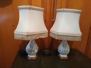 Avec Ceramique Sur Lampes Abats Jours En 2 Chevet Petites De Détails GzqVSUpLM
