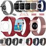 Véritable Cuir Magnétique Bracelet Milanais Inoxydable Strap Band Pr Apple Watch