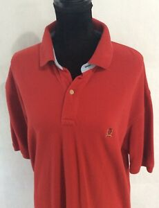 Tommy-Hilfiger-Mens-Size-XL-100-Cotton-S-S-Polo-Shirt-Red