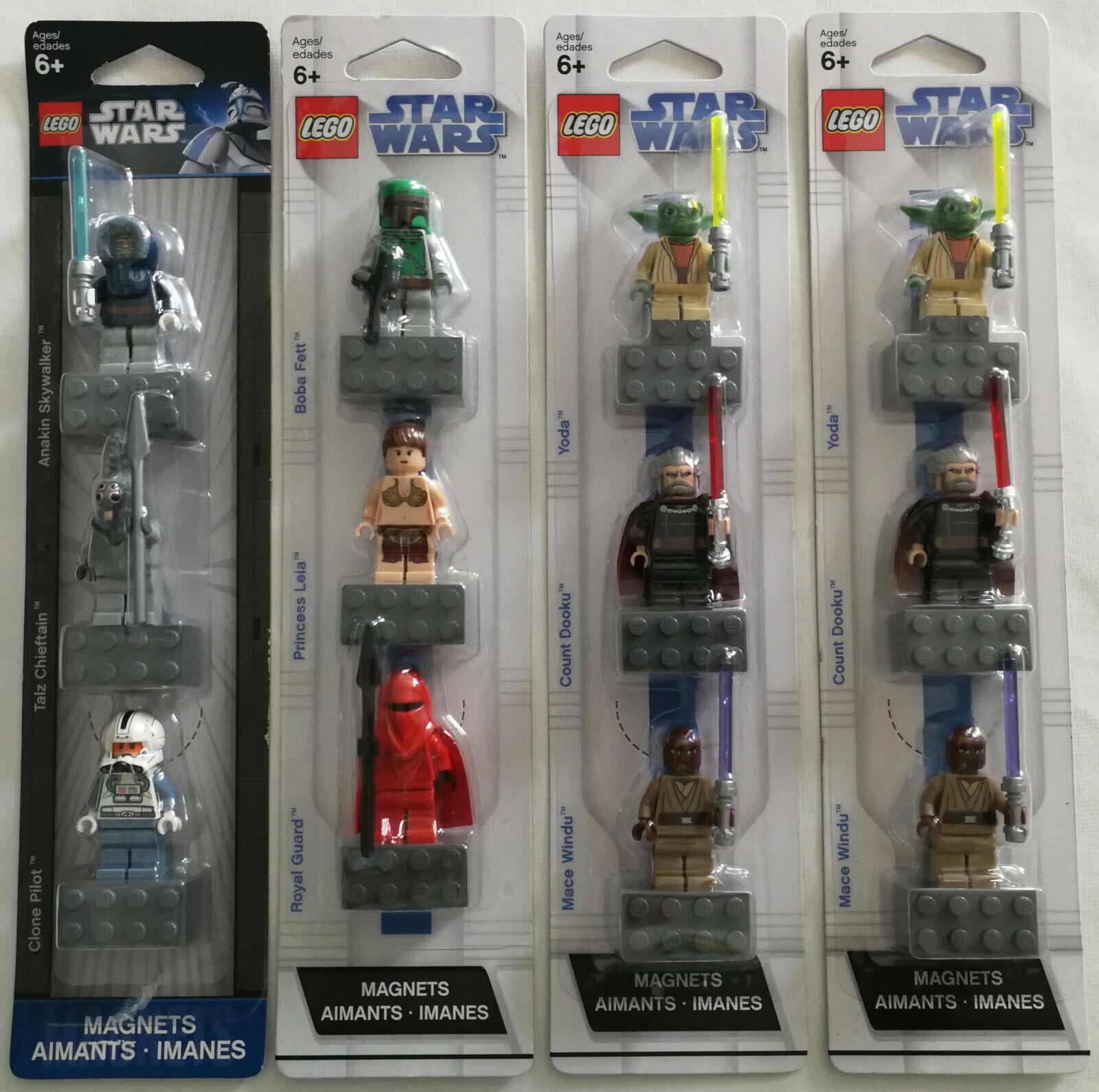 4 LEGO® Star Wars™ Magnet-Figures-Sets 852552, 2x 852555 (Yoda), 853130 Neu OVP