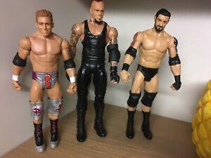 Wrestling-WWE-MATTEL-Basics-Figure-Bundle-X-3-UNDERTAKER-BADNEWS-ZACK-RYDER