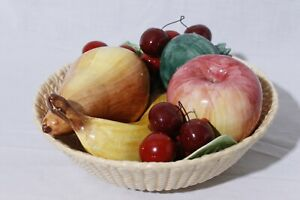 Handmade-Hand-Painted-Ceramic-Bowl-of-Fruit-Centerpiece-Made-in-Italy