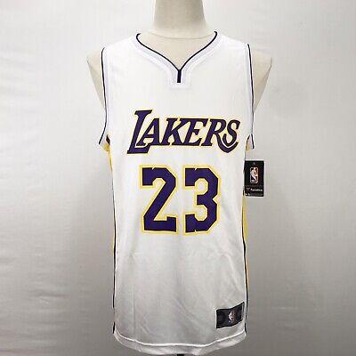 Fanatics Fast Break Los Angeles Lakers 23 Lebron James White Jersey Men's Medium | eBay