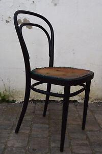 Thonet 214p Bugholz Stuhl Bistrostuhl Designklassiker Schwarz