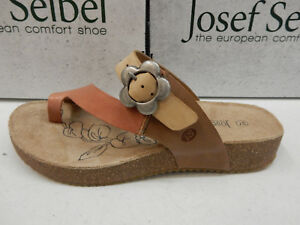Image is loading JOSEF-SEIBEL-WOMENS-SANDALS-TONGA-23-CORAL-MULTI- bd701a8f52