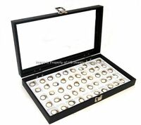 Wholesale Lot 6 Glass Top White 50 Space Jewelry Display Cases Pins Collectible